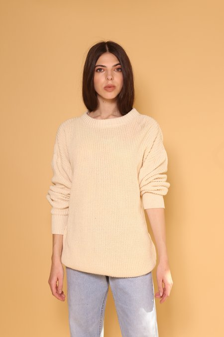 """INTENTIONALLY __________."" ARCHIVE 0270 KNIT SWEATER - CREAM"
