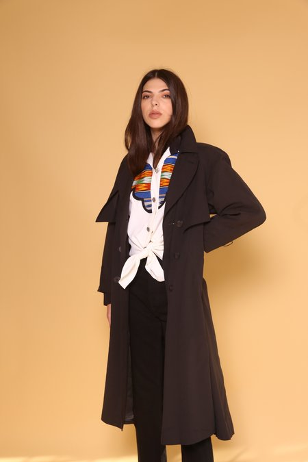 """""""INTENTIONALLY __________."""" ARCHIVE 0275 TRENCH - BLACK"""