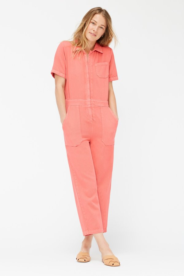 Lacausa Milwood Jumpsuit - Hibiscus