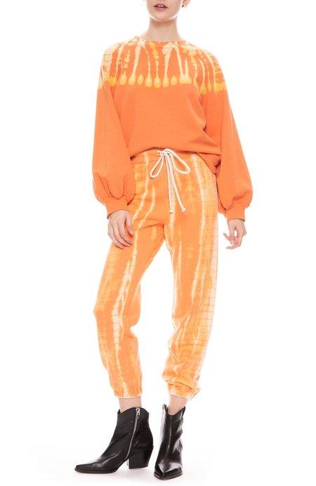 Raquel Allegra Athletic Sweatpants - Orange Tie Dye