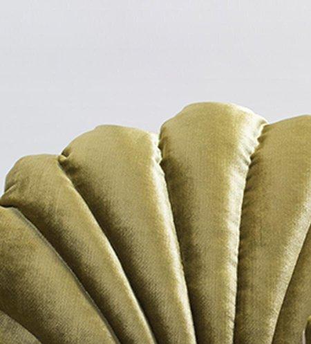 Mint Shell Floor Pillow in Velvet