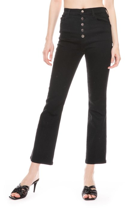 J Brand Lillie High Rise Crop Flare Jean - Vesper Noir