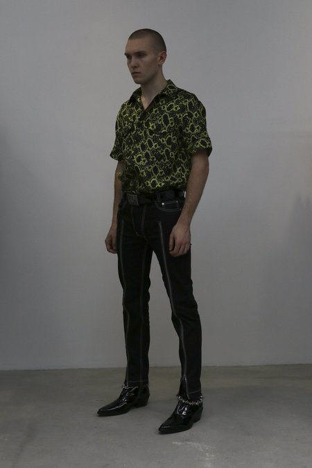 Nomenklatura Studio Cotton Twill Zipper Jean - black