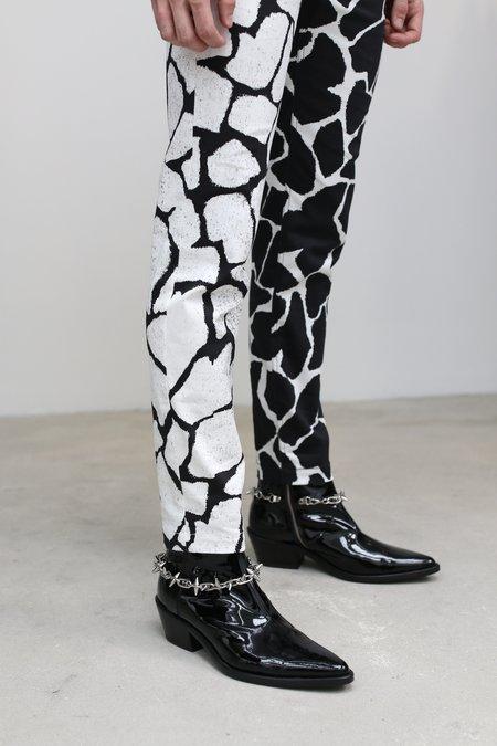 Nomenklatura Studio Denim Half & Half Jean - Giraffe Print