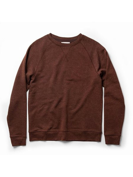 Taylor Stitch The French Terry Crewneck - Rust