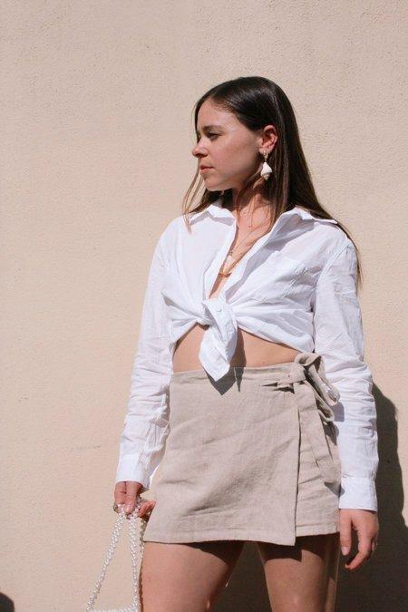 Lacausa Cotton Button Up Shirt - White
