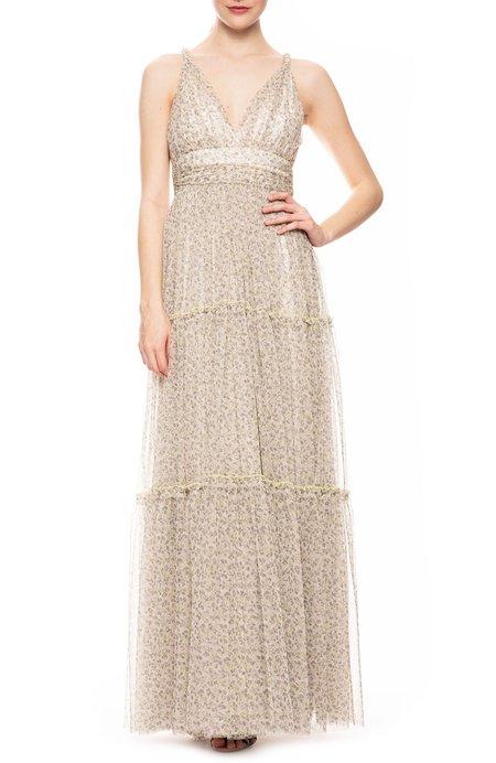 Jonathan Simkhai Halley Floral Tulle Dress - LIMONCELLO