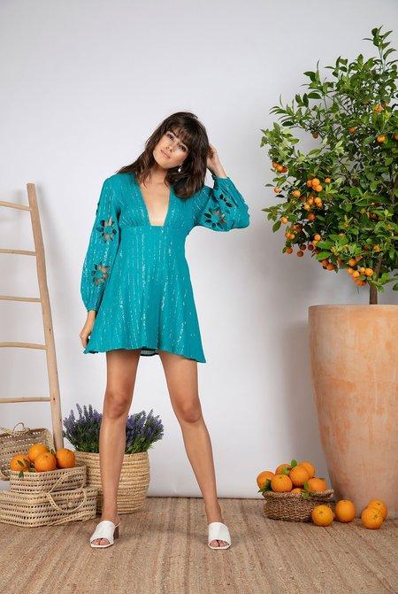 Sundress Lucie Cotton Dress - Emeraude