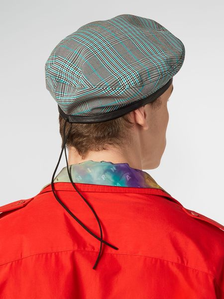 Marni Twill Beret - Plaid