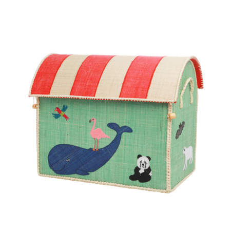 kids Rice Medium Toy Basket in Animal Design