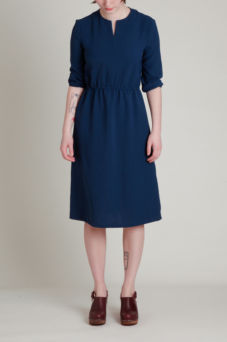 A.Cheng Split Neck Quarter Sleeve  Dress