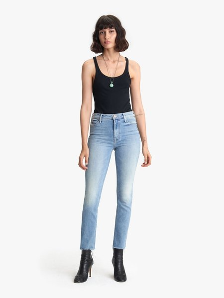 Mother Denim The Midrise Dazzler Ankle Fray - Jackpot