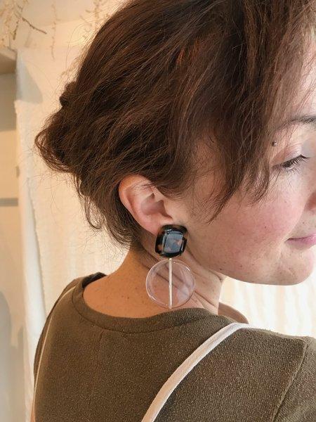 Rachel Comey Arc Earrings - Tortoise / Clear