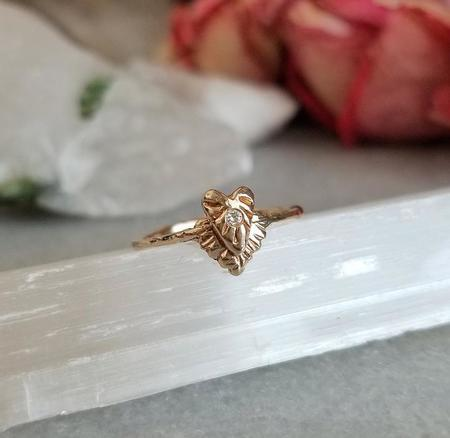 Communion by Joy Diamond Divine Heart Ring - 14K Yellow Gold