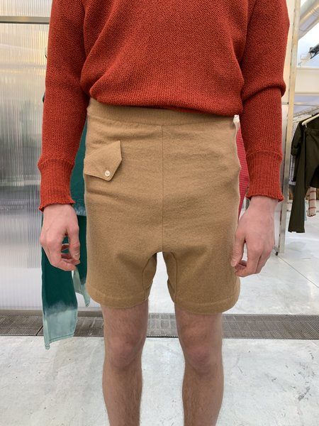 Marni Shetland Knit Wool Boxer Short - Camel