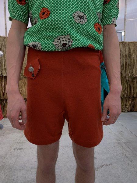 Marni Shetland Knit Wool Boxer Short - Red