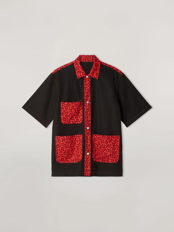 Marni Reversible Button Snap Cells Pocket Shirt - Camo