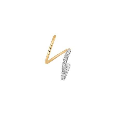 MARIA BLACK Bela Blanc Twirl Single Earring - Gold