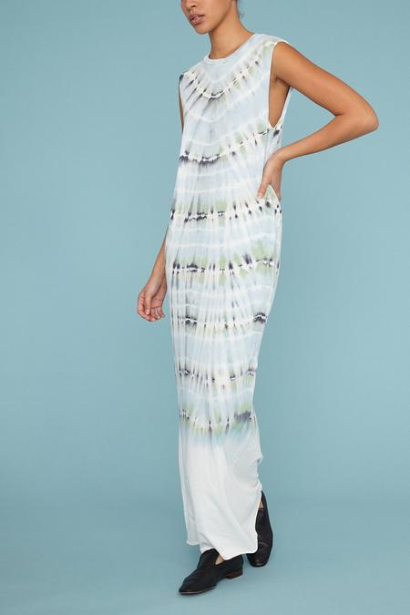 Raquel Allegra Jersey Muscle Maxi Dress - Minty Tie Dye