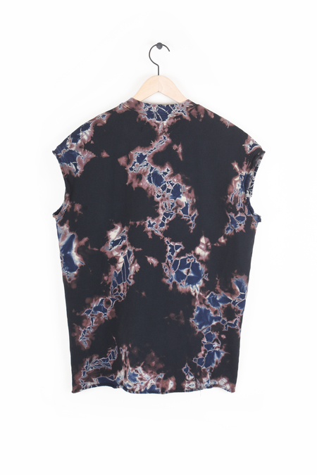 Raquel Allegra Cutoff Oversized Sweatshirt - Black Sky Andromeda