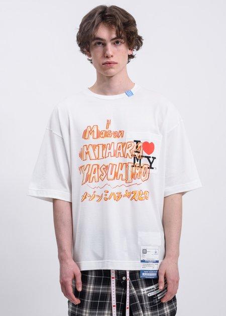 Mihara Yasuhiro Maison MHARA YASUHIRO Printed T shirt - white