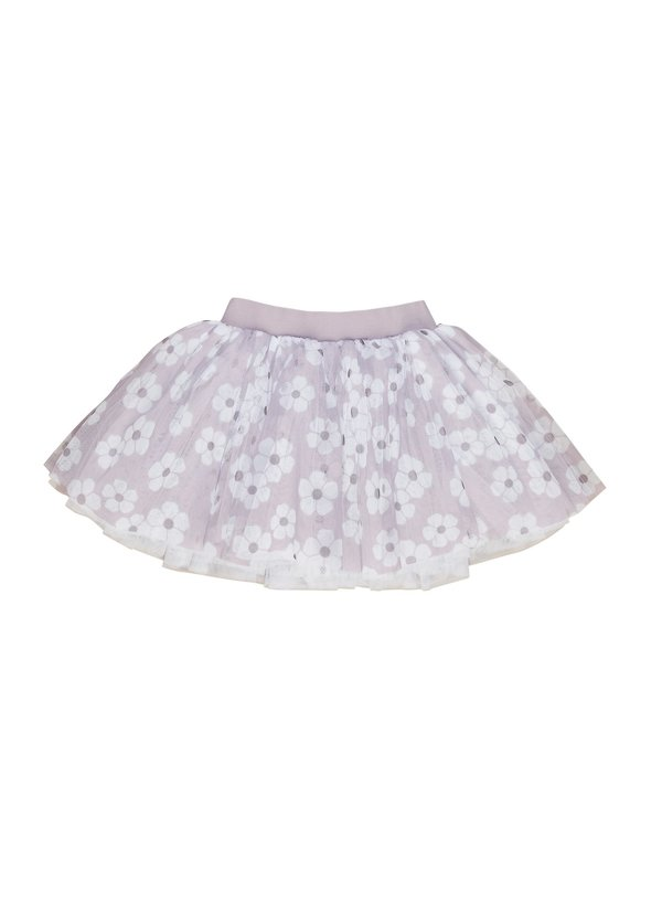 kids Huxbaby Floral Tulle Skirt - Lilac