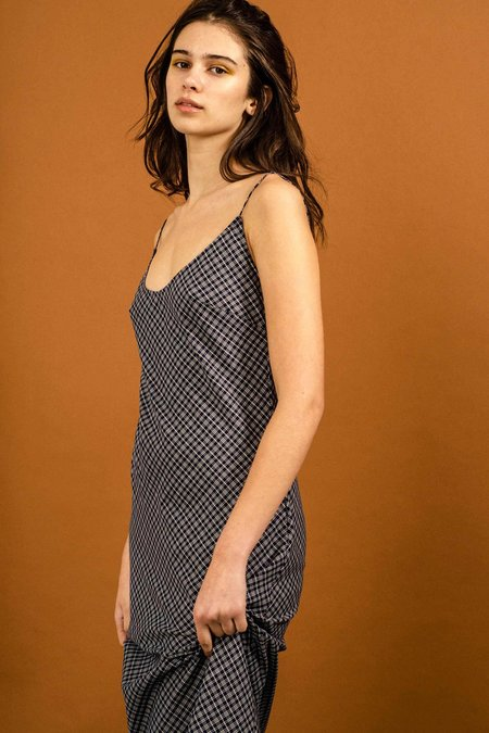 Penny Sage Duval Dress - Navy Check