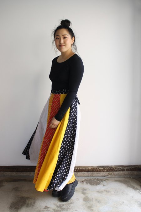 Vintage & Pre-loved Pieced Maxi Wrap Skirt
