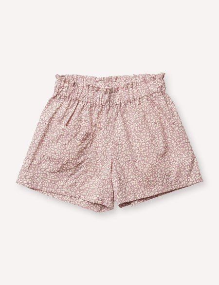 Kids Petits Vilains Camille Flutter Short - Feather Fields Pink