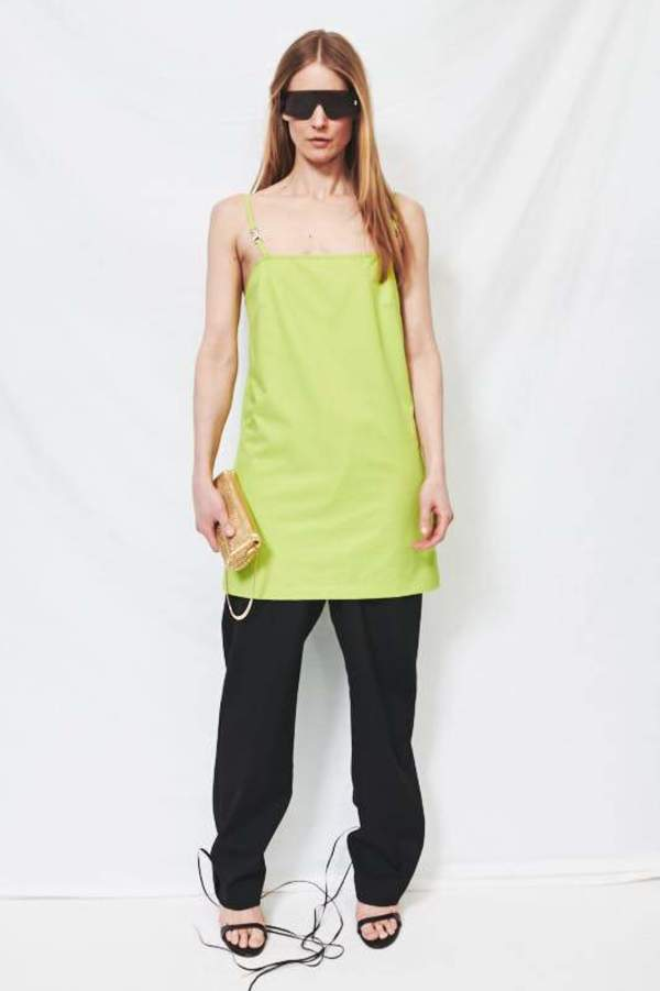 Assembly Shell Minidress - Neon Green