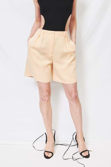 Assembly Microcord High Waisted Short - yellow