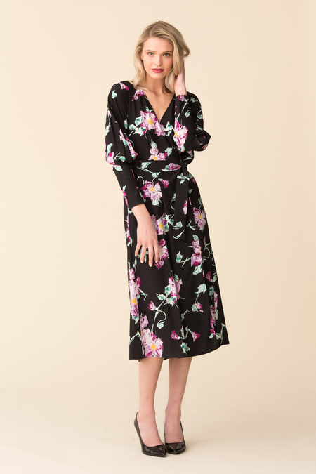 A.L.C. Quinn Dress - Black/Purple