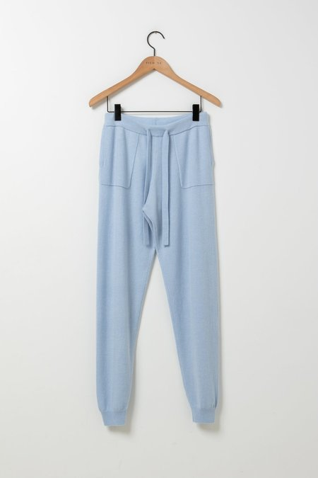 Allude Cashmere Joggers - Sky Blue
