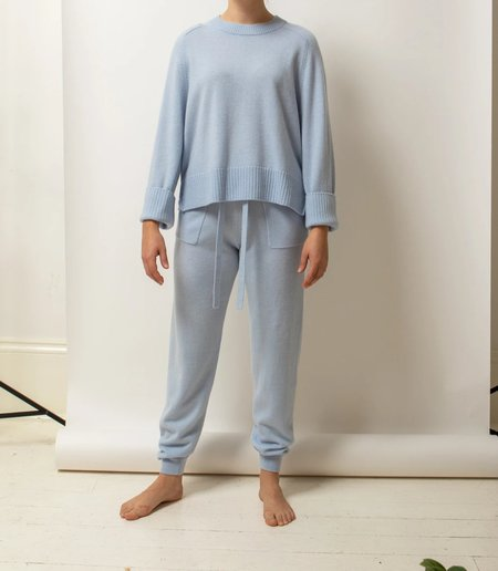 Allude Roundneck Sweater - Sky Blue