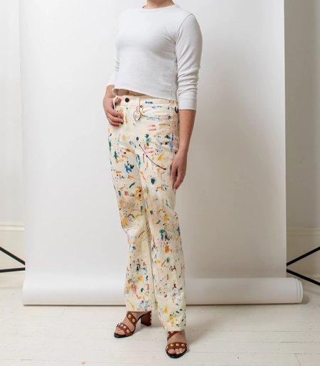 Simon Miller Splatter Paint Jeans - Cream