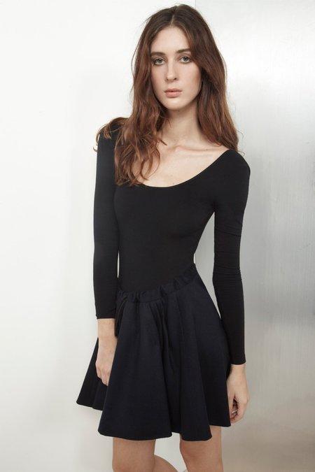 Datura Wool Medusse Skirt - Night Blue