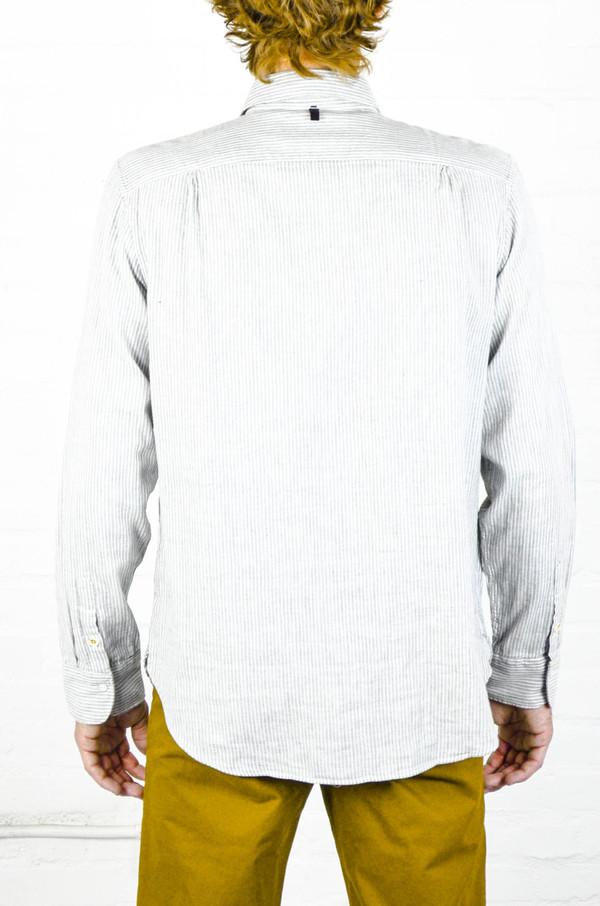 Men 39 S Rag And Bone Grey Stripe Beach Shirt Garmentory