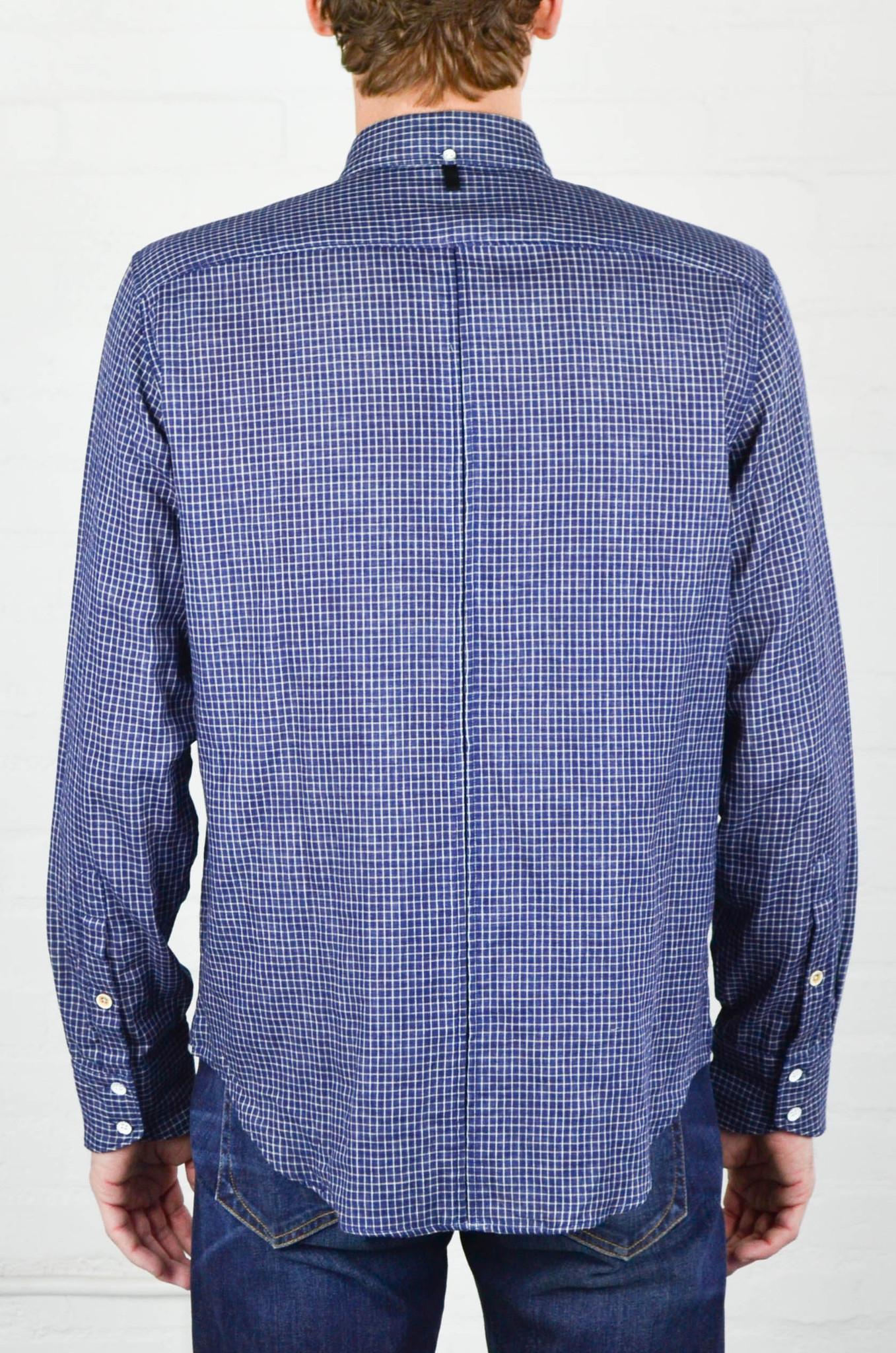 Men 39 s rag and bone indigo check yokohama shirt garmentory for Rag and bone mens shirts sale