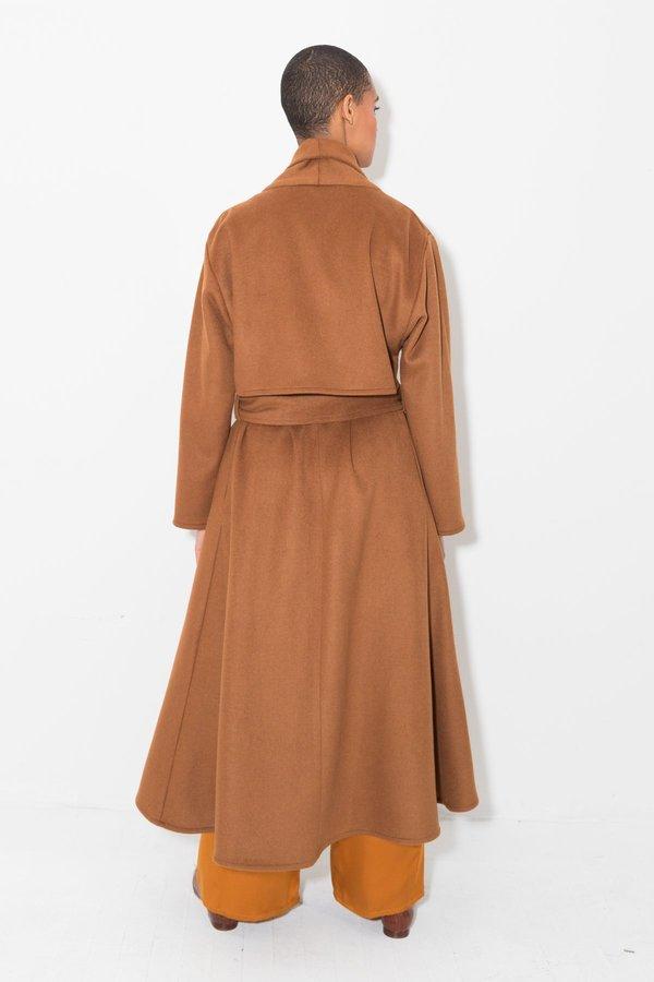 Datura Wool Trench Coat - Terra