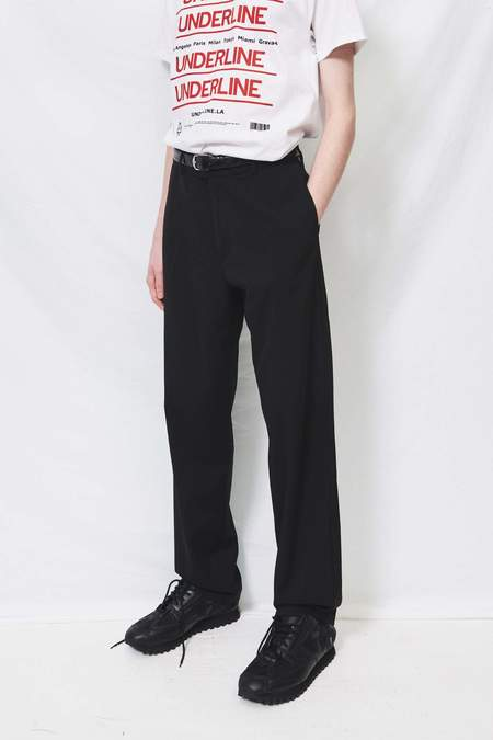 Assembly Suiting Flat Front Pant - black