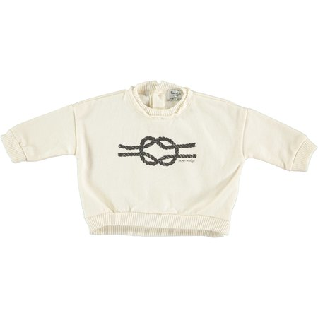 Tocoto Vintage Rope Knot Sweatshirt - white