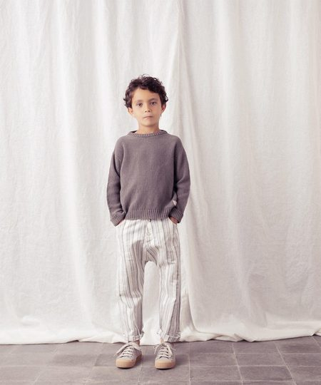 Tocoto Vintage Striped Trousers - grey/white