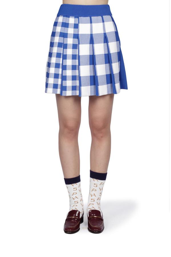 PH5 Barbara Pleated Mini Skirt - electric blue