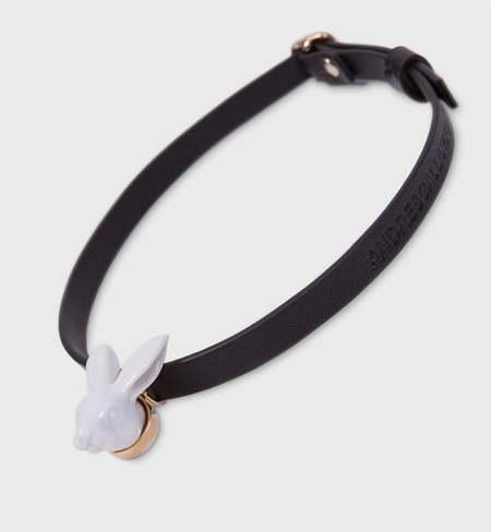 ANDRESGALLARDO Rabbit head Leather Choker