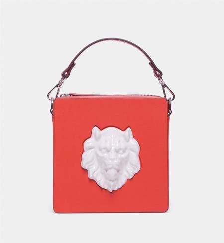 ANDRESGALLARDO Square Lion Bag - coral