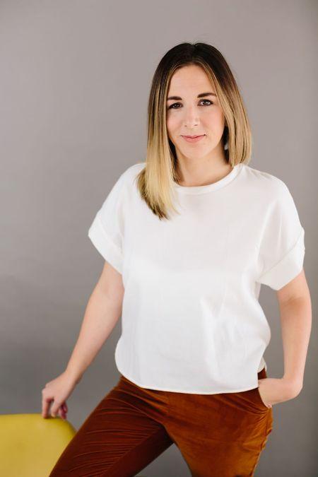Jungle Folk Emily Shirt - WHITE