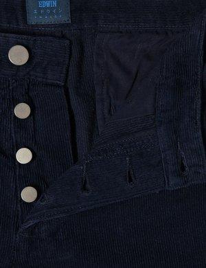 Edwin ED-55 Regular Tapered Cords - Indigo Blue