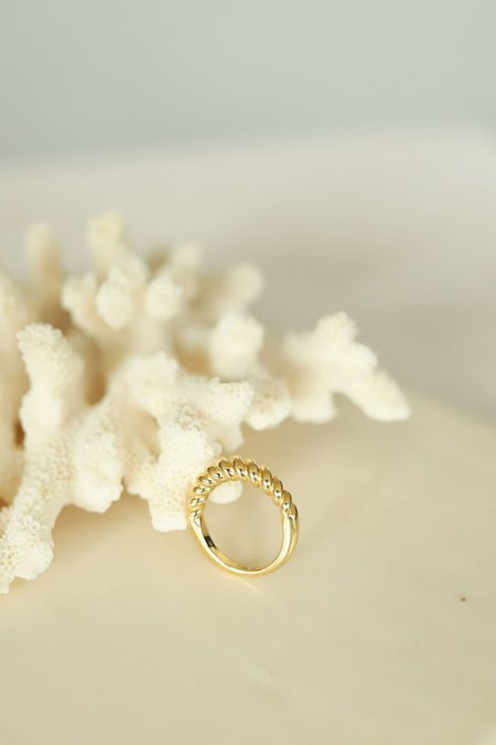 Mod + Jo Gigi Croissant Ring - 14K Gold Vermeil
