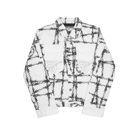 FORMY STUDIO Barbed padded jacket - WHITE