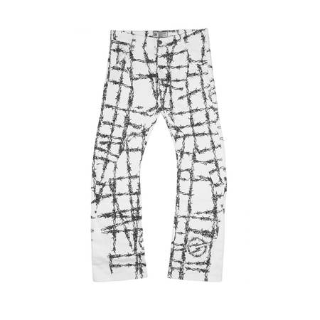 FORMY STUDIO Barbed pants - WHITE
